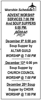 Advent Service Schedule
